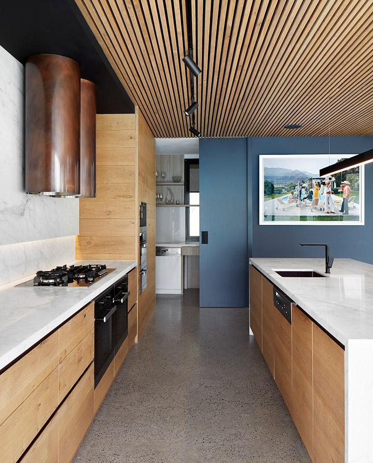 Kitchen at Quarry House in Melbourne