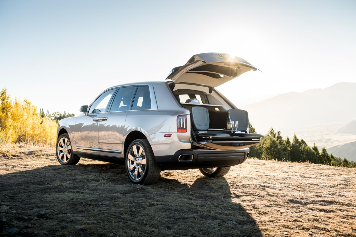 Boot of the Rolls-Royce Cullinan SUV