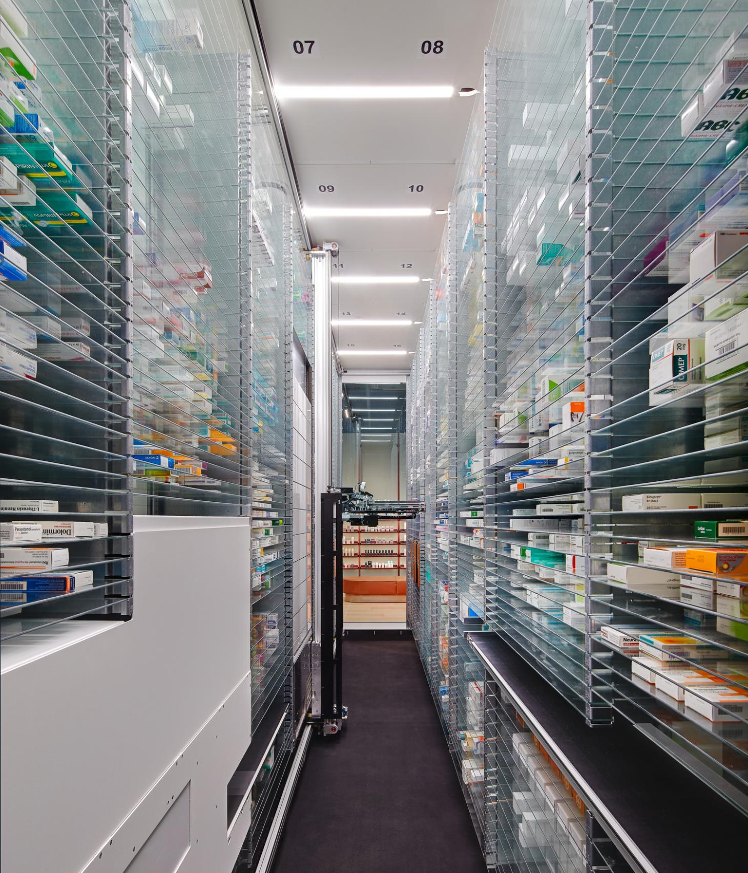Studio Aisslinger pharmacy, automated delivery service