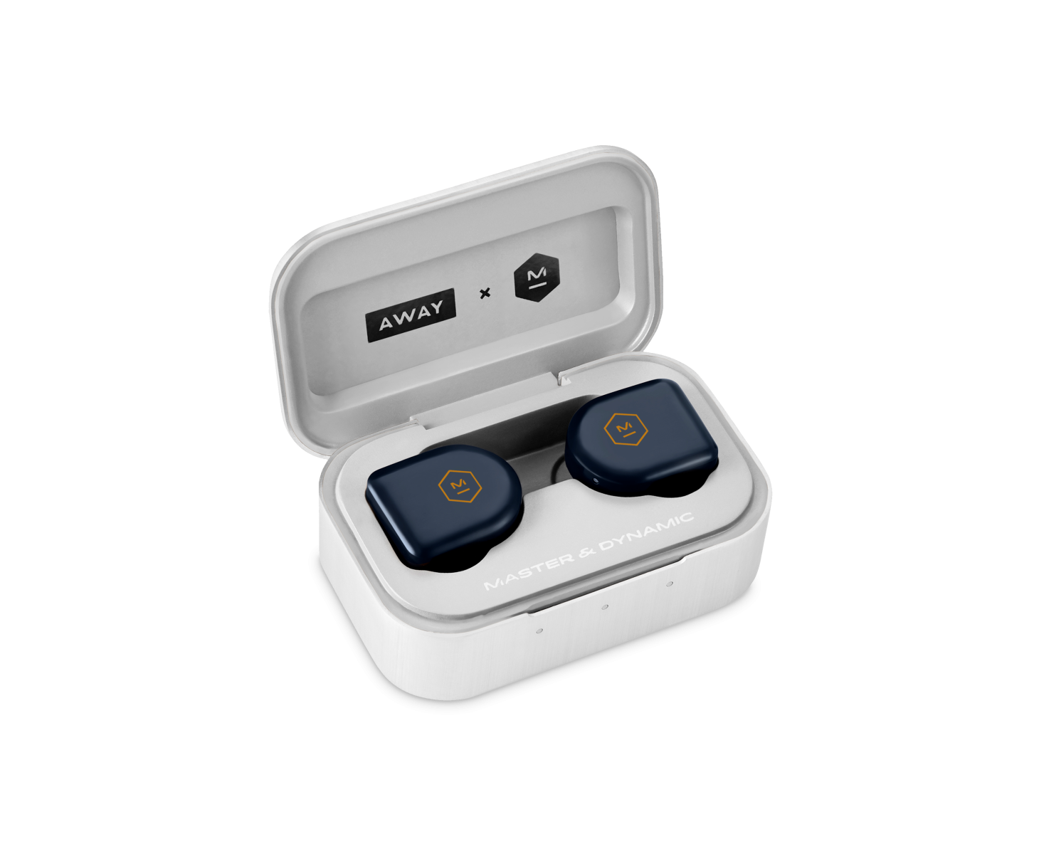 Away and Master and Dynamic earbuds in travel case