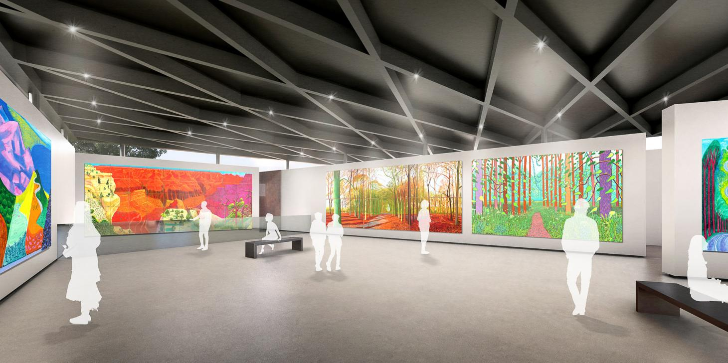 Inside the Dyson gallery space which will host works by David Hockney, Pablo Picasso, Roy Lichtenstein and Andy Warhol