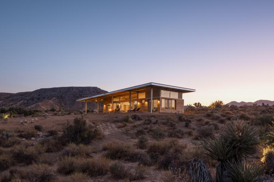 this 'cowboy modern' retreat is set within an American desert