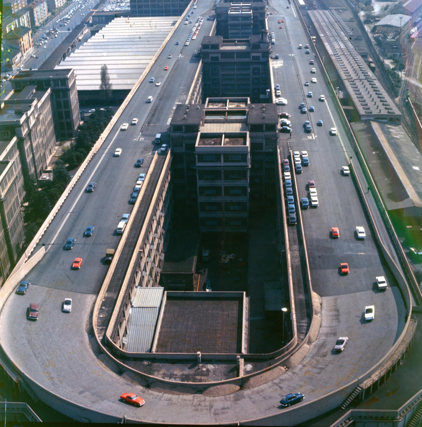 The Lingotto factory test track pictured in 1966