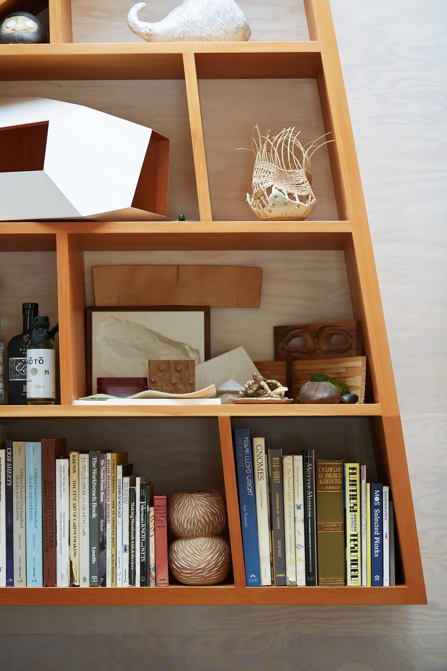 A shelf inside Knowhow Shop's office in LA