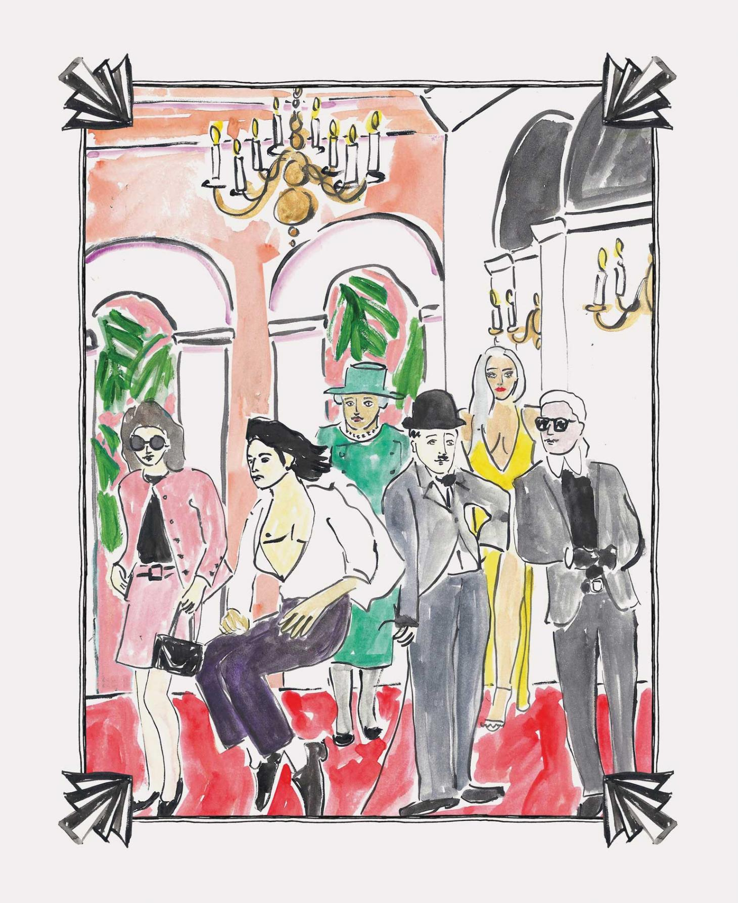 Raffles Residents, illustration by Luke Edward Halls