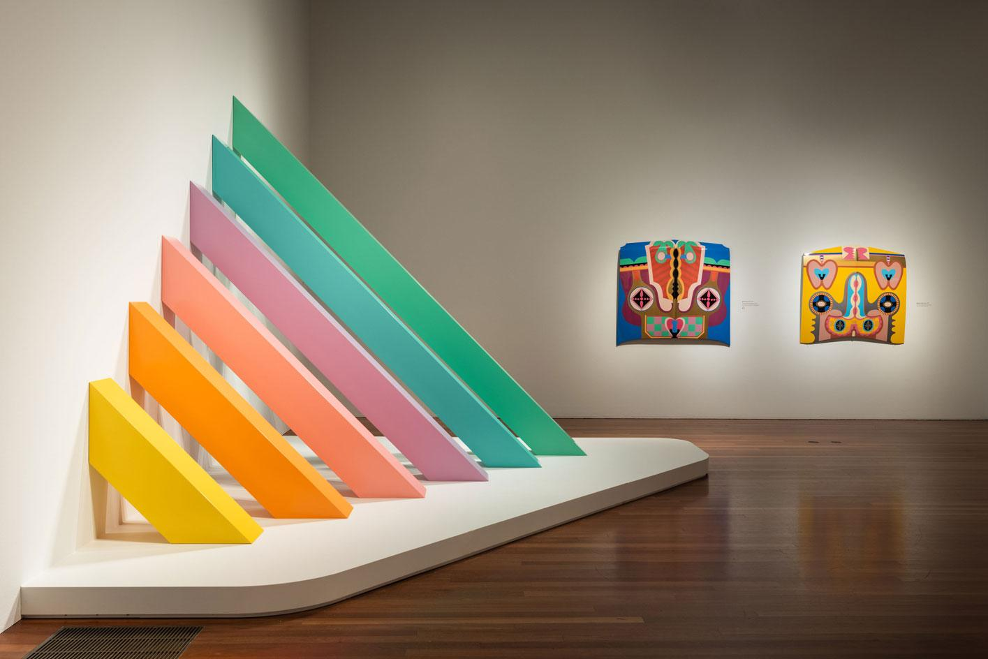 A Retrospective at de Young Museum in San Francisco, CA (Photo - Drew Altizer). Image provided courtesy of the Fine Arts Museums of San Francisco, including the work Rainbow Pickett