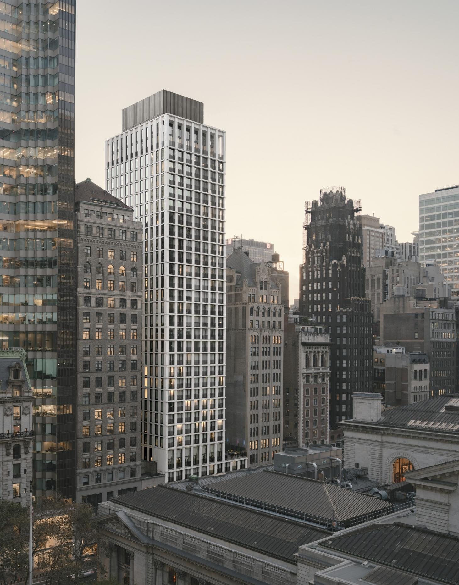 Hero exterior shot of the Bryant Park by David Chipperfield