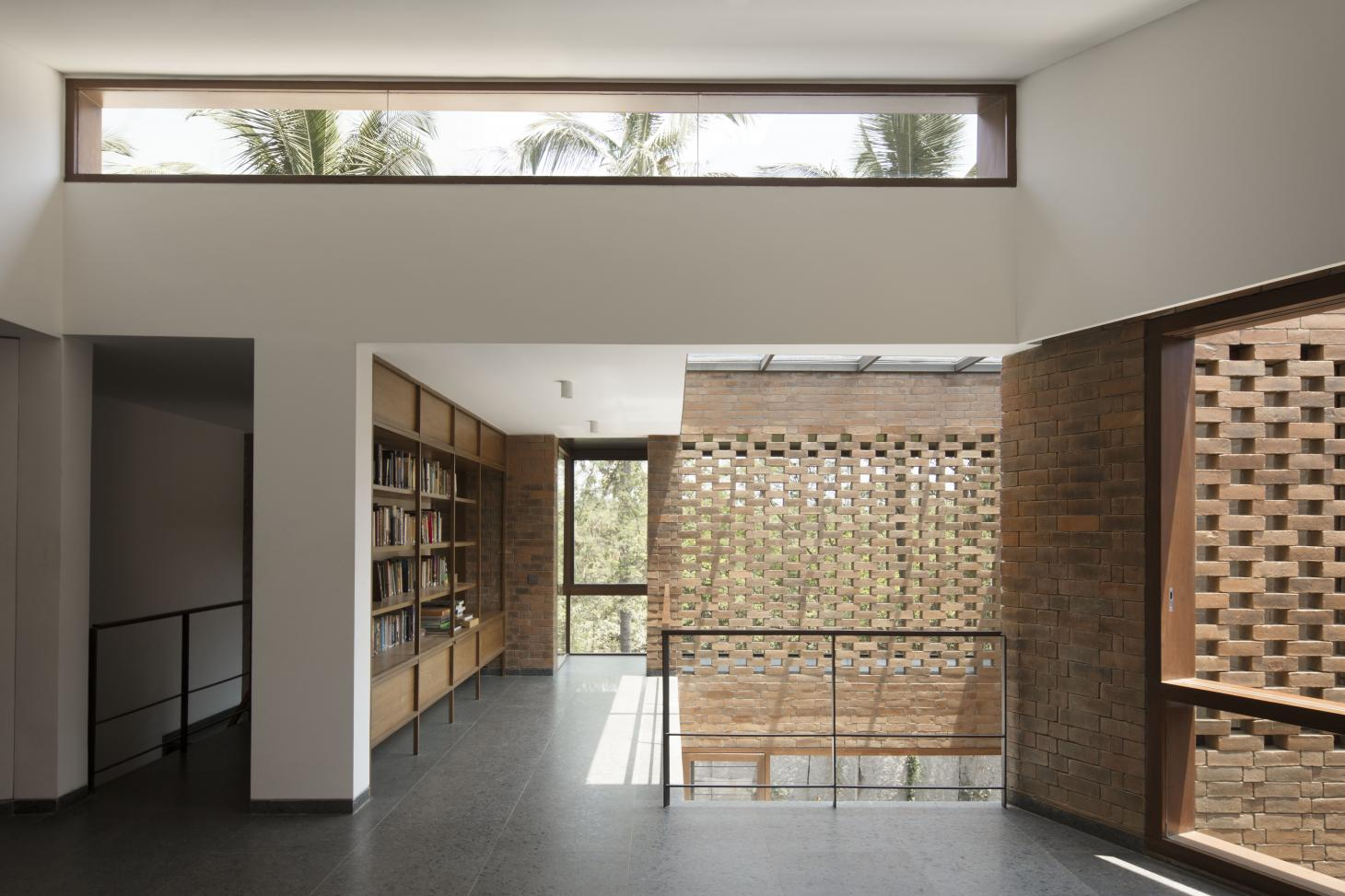 Brick House features open interiors that allow views out