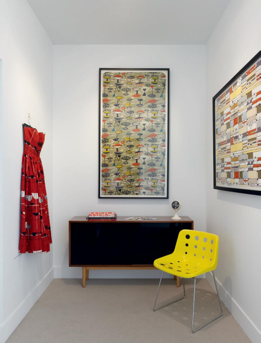 Pieces by Lucienne and Robin Day and a print by Jacqueline Groag