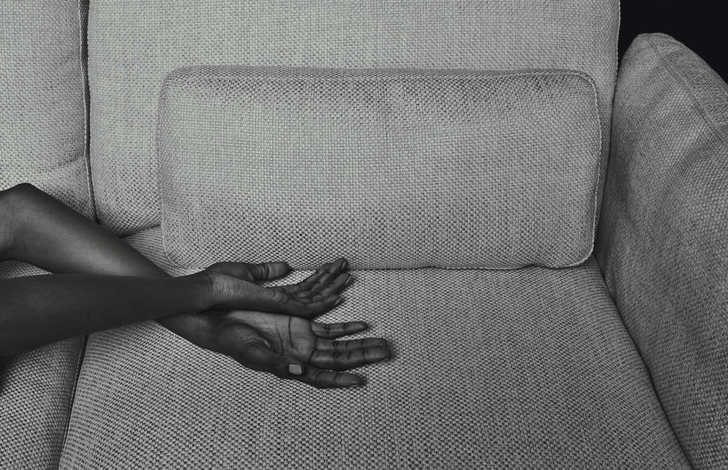 Hands on sofa photograph from Patrick Norguet Dialogues Book