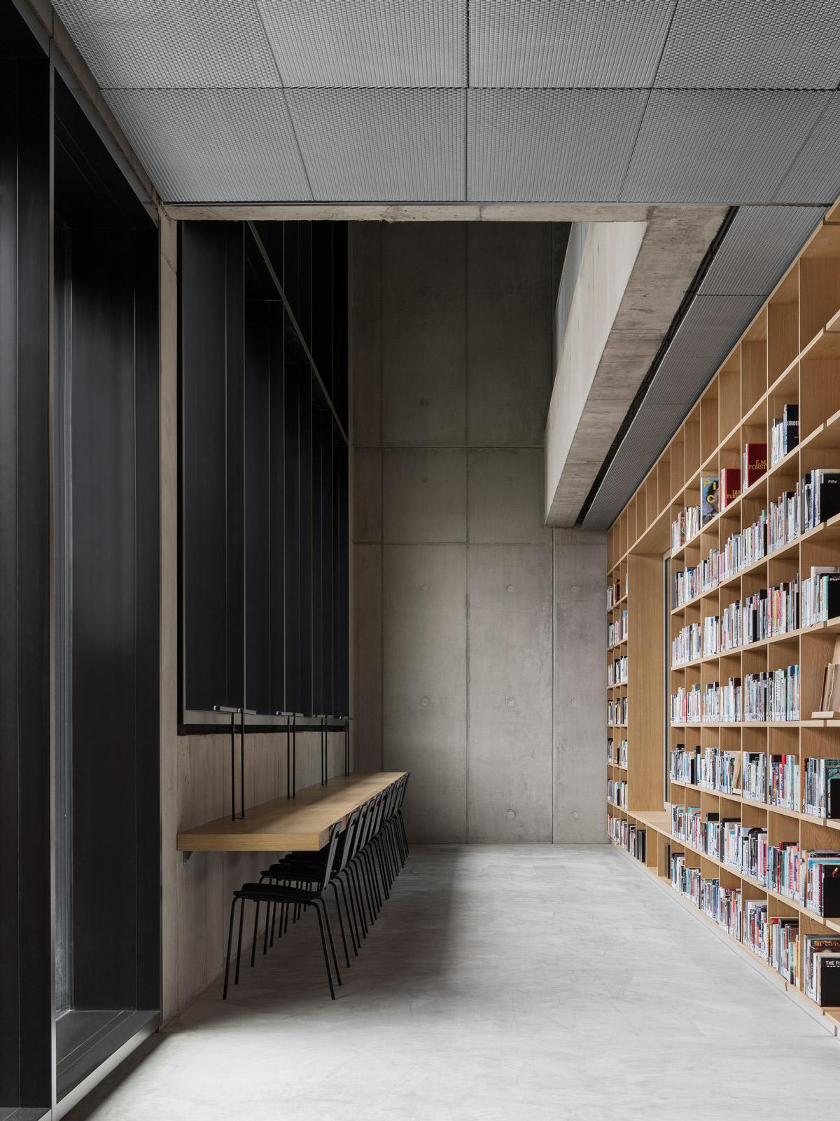 Inside the Utopia library, designed by KAAN Architecten