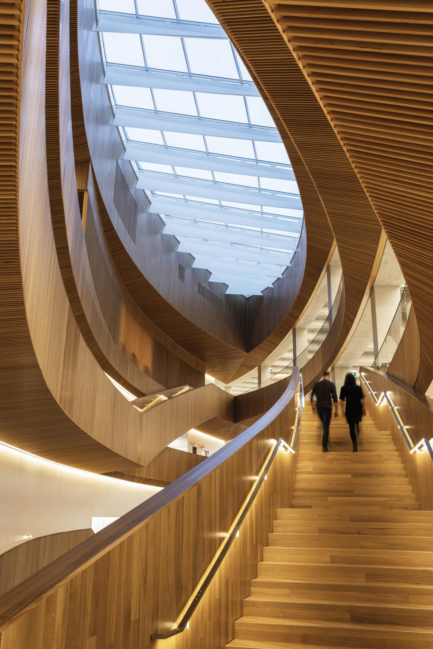 Timber interior at calgary library