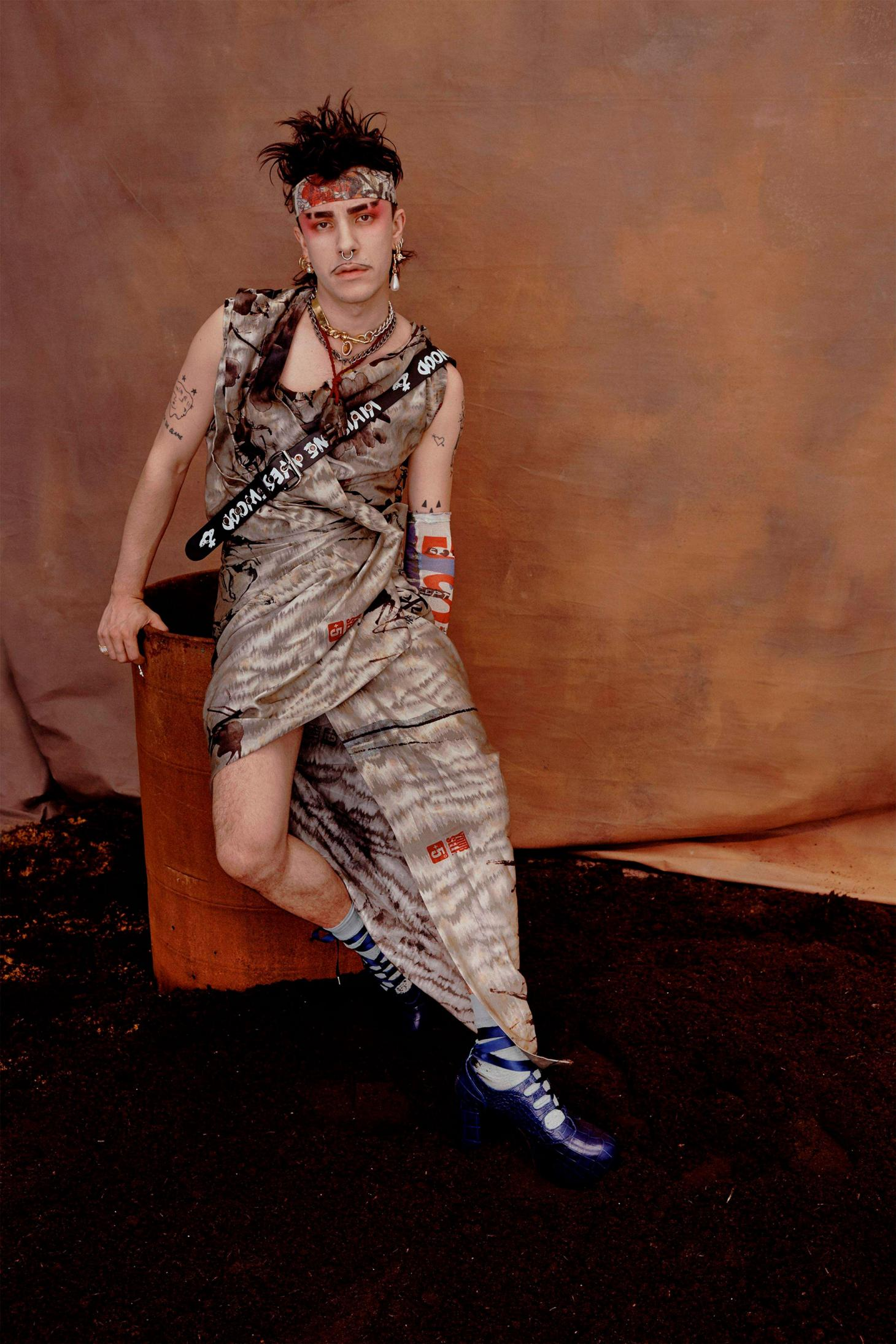 A model in Vivienne Westwood's s/s 19