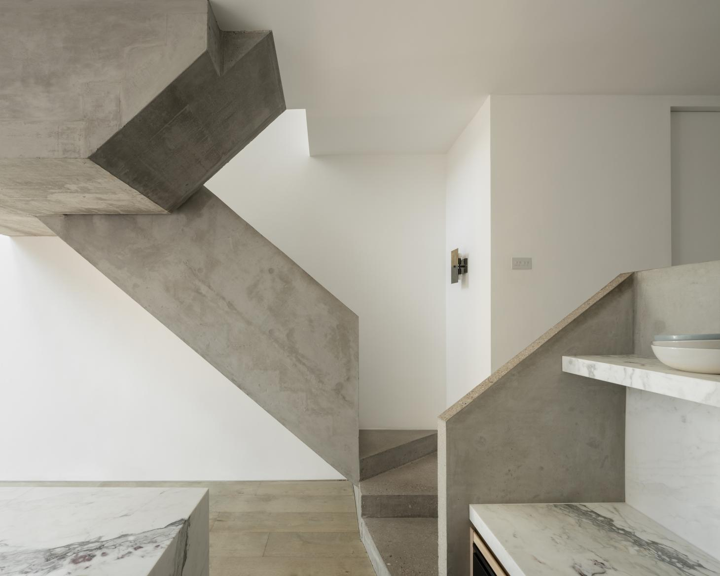 AC Residence by dedraft concrete interior