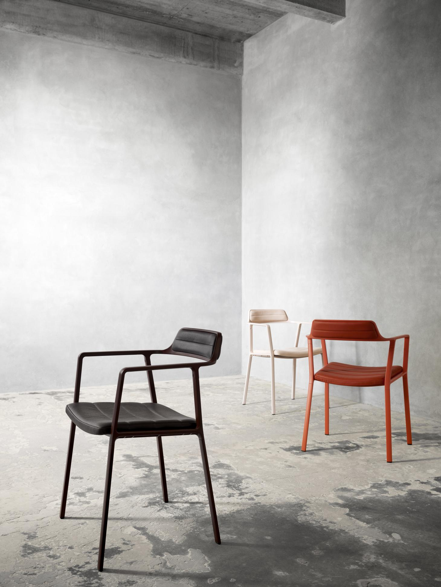 Three chairs designed by Bahraini-Danish for Vipp