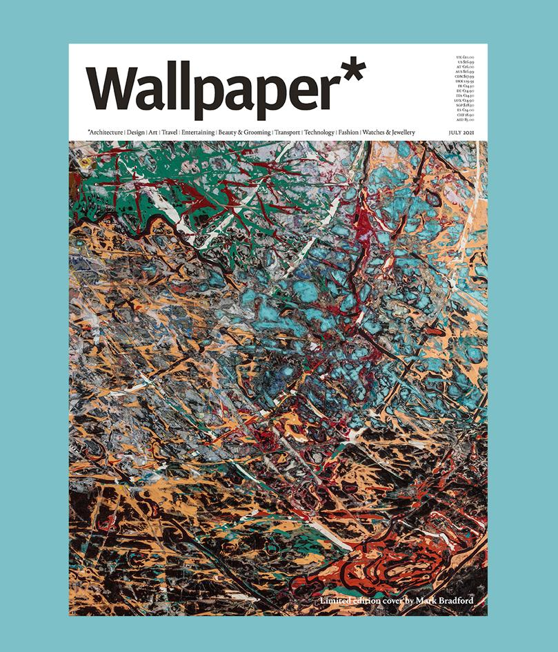 Mark Bradford created The Price ofDisaster, 2021 for Wallpaper's limited-edition subscriber cover for the July 2021 issue