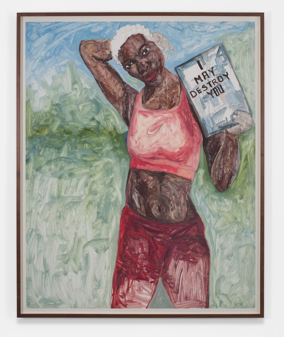 Portrait of Michaela Coel, writer and star of I May Destroy You by Serge Attukwei Clottey