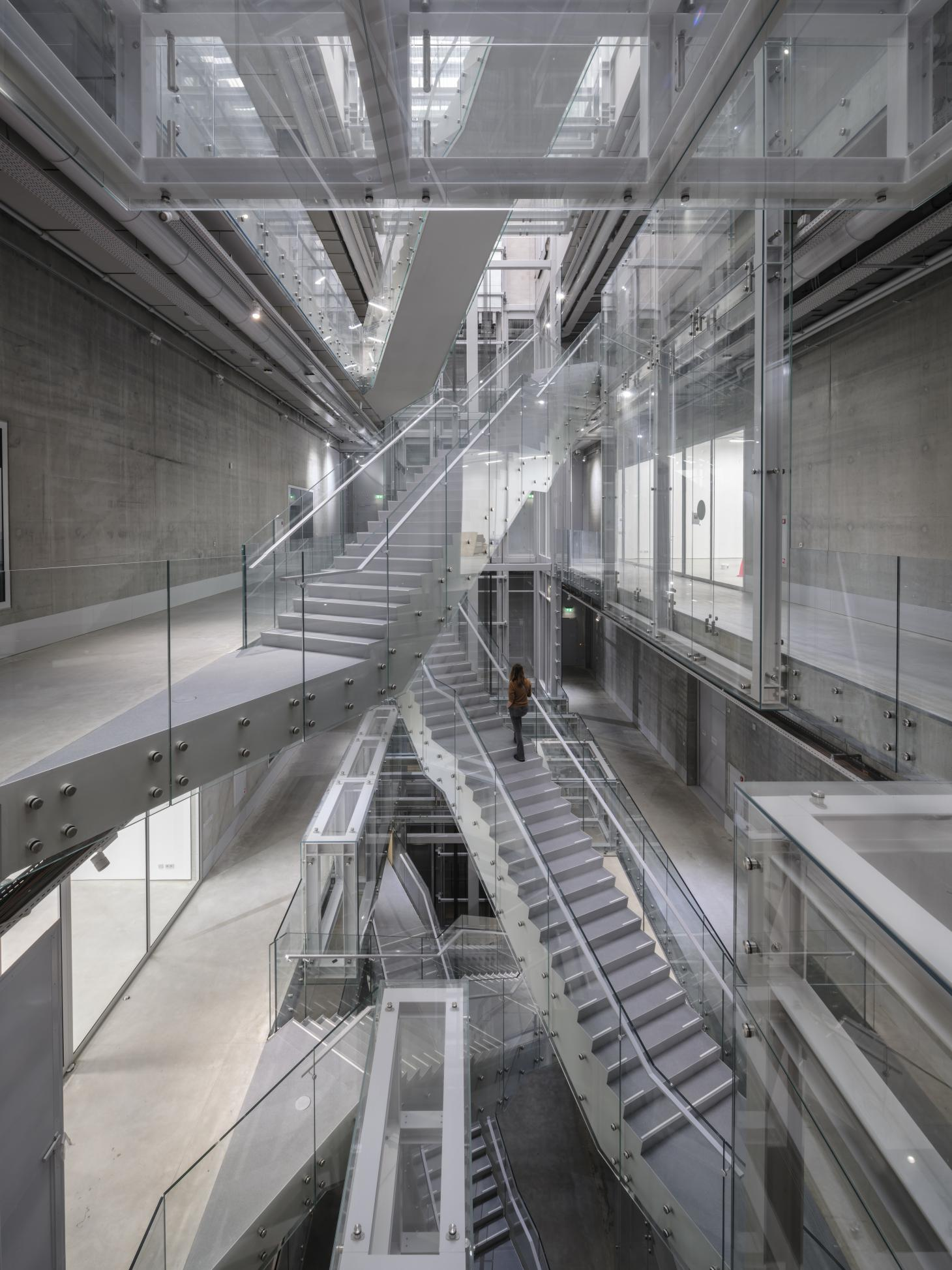 crisscrossing staircases at the new boijmans depot