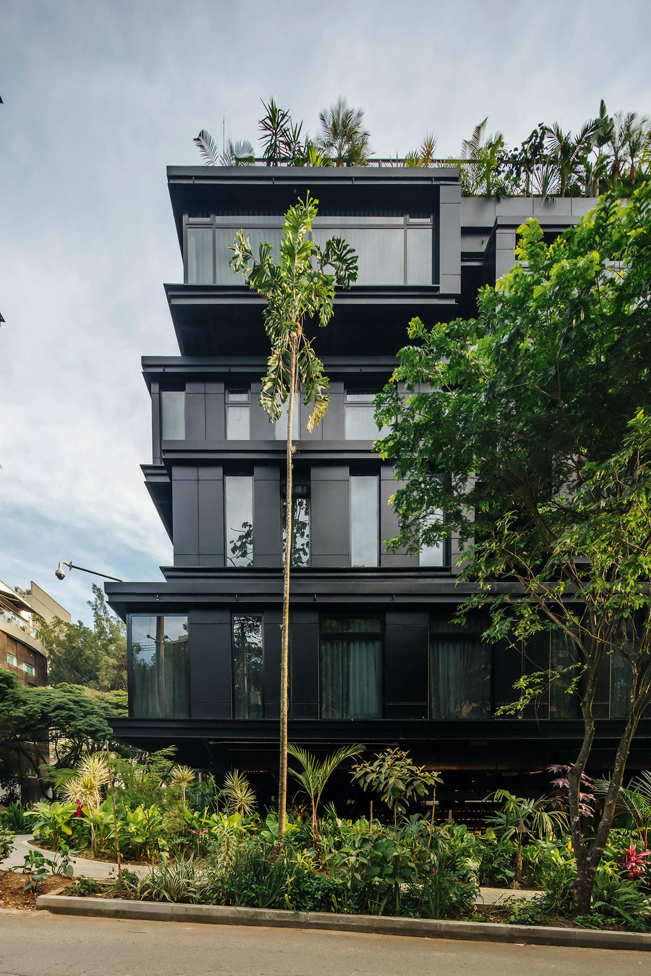 Medellin's click clack hotel by Plan B showcases tropical modernism