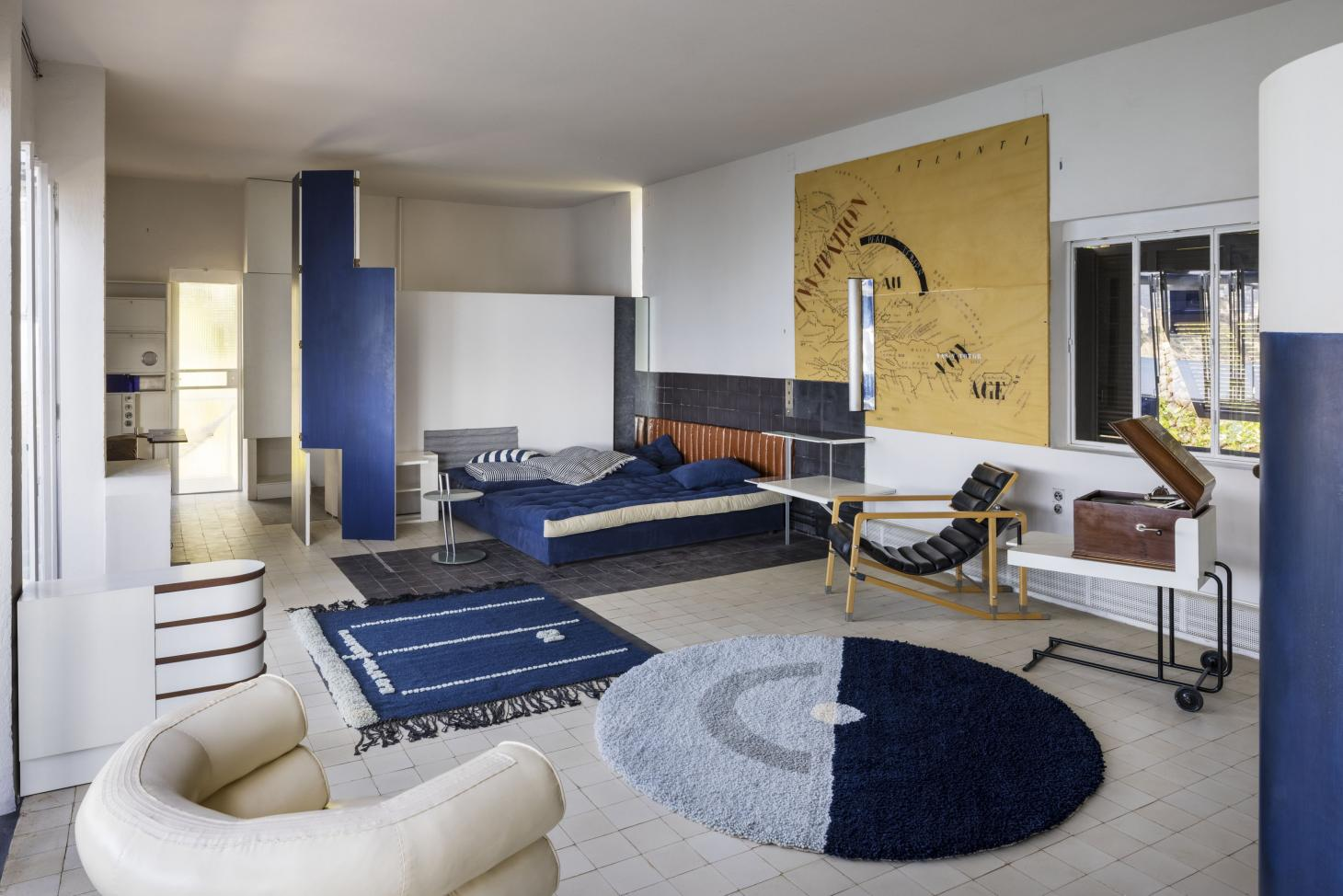 Eileen Gray's E-1027 reopens after extensive renovation, seen here it's main living space