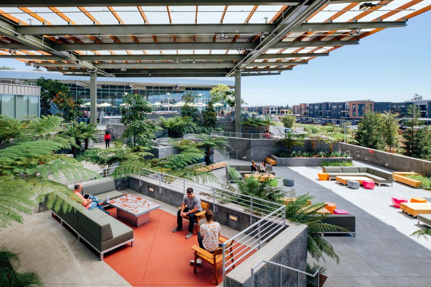 The Bowl Terrace designed by Frank Gehry at Facebook HQ Menlo Park