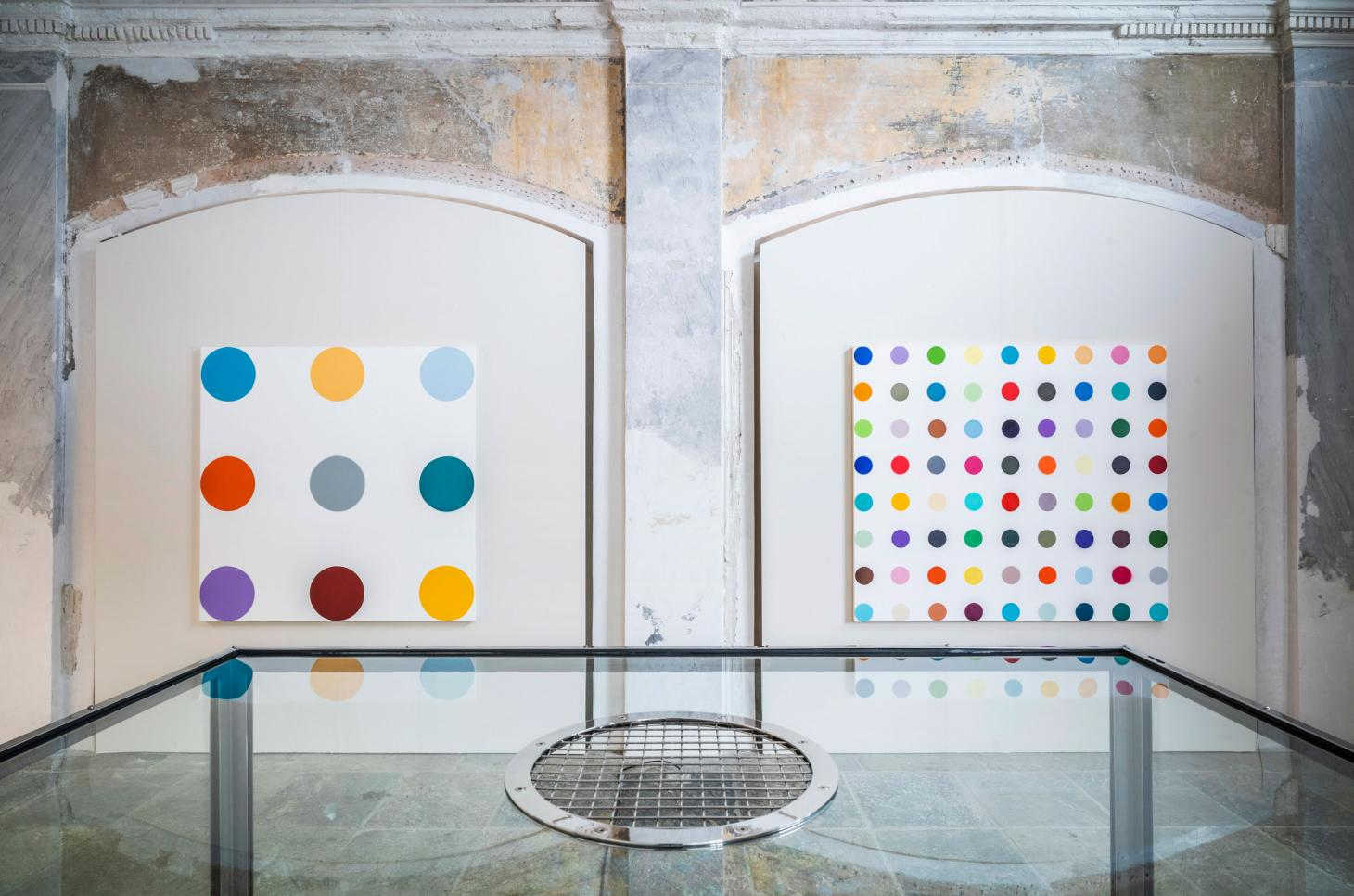 Photography from the Mental Escapology exhibition by Damien Hirst at the Forum Parcelsus in St. Moritz, 2021