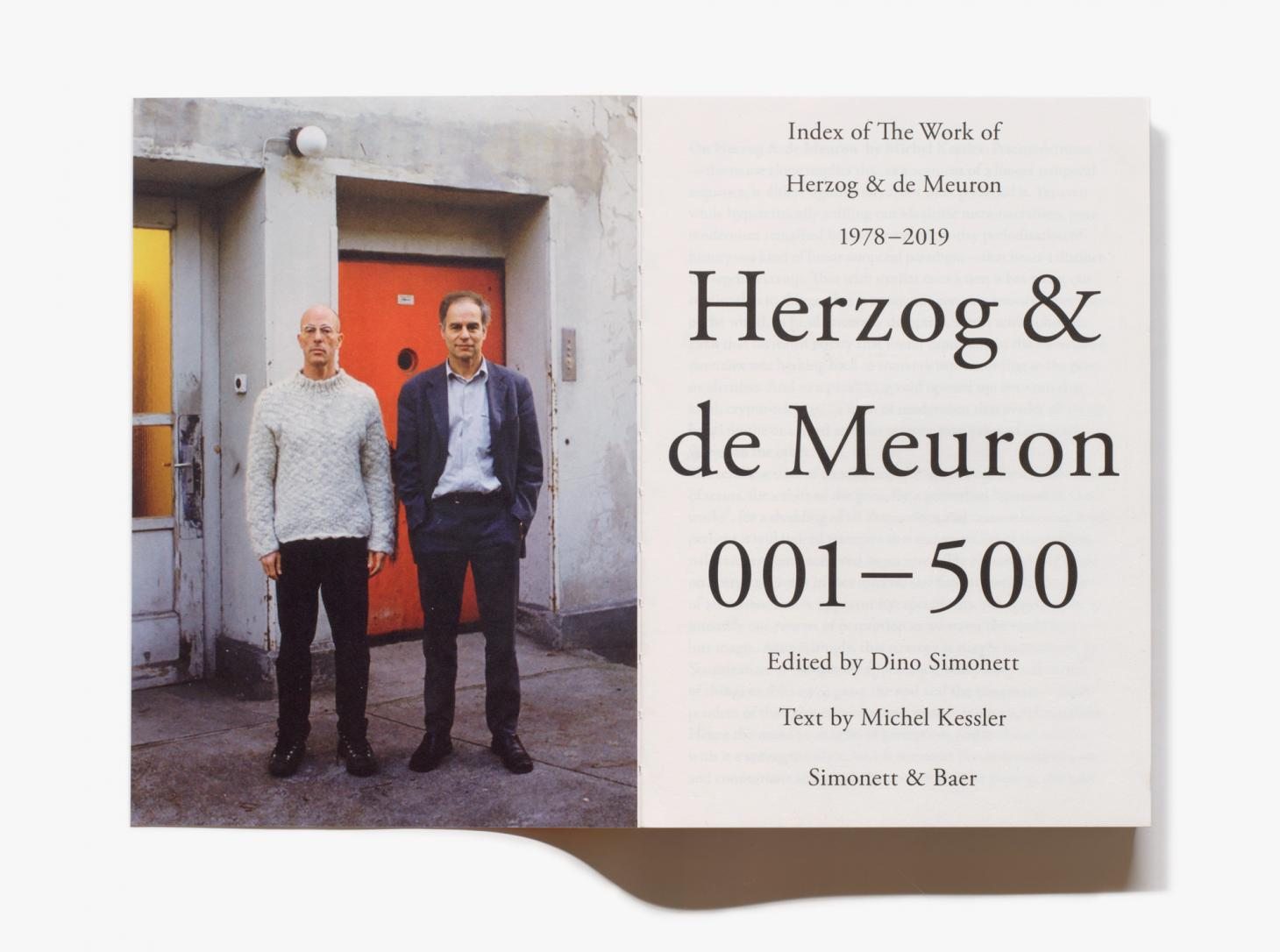 Herzog & de Meuron book published by Simonett & Baer
