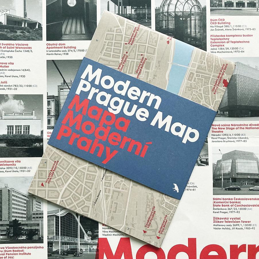 Prague modernist map has been beautifully designed and is the latest in a series of architectural maps