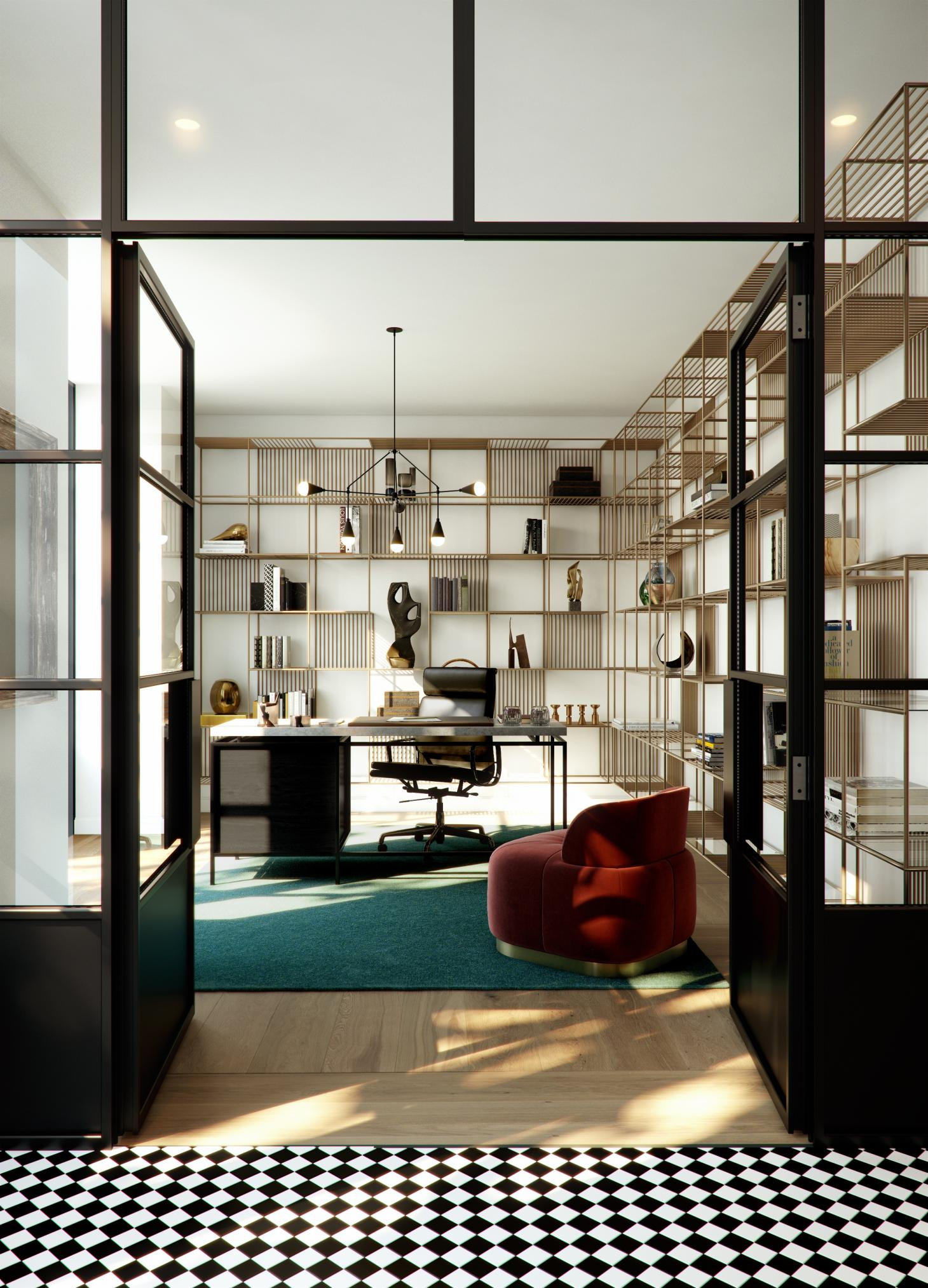 London City Island townhouses reveal their contemporary interiors