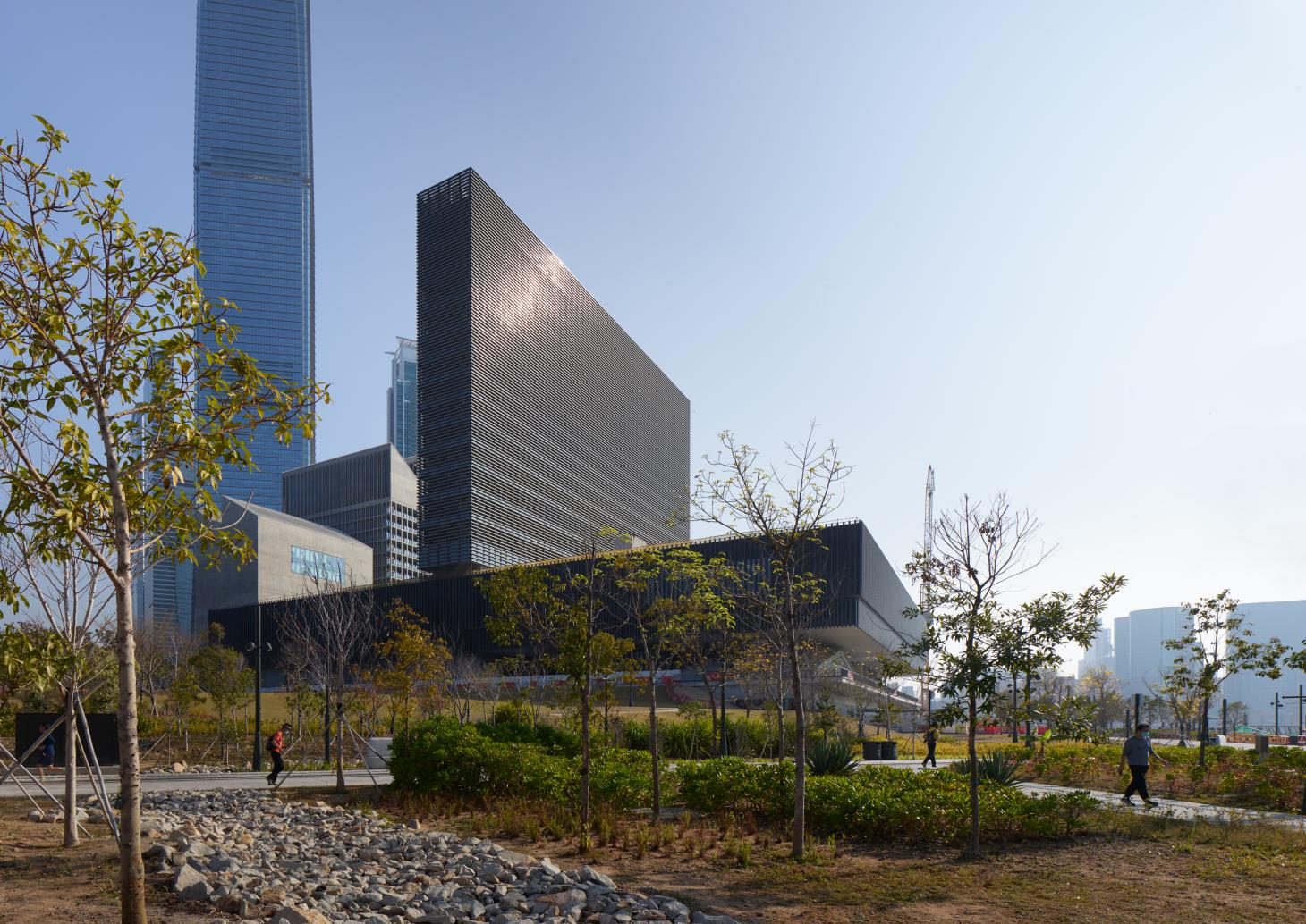 M+ Museum facade in Hong Kong, as featured from street view