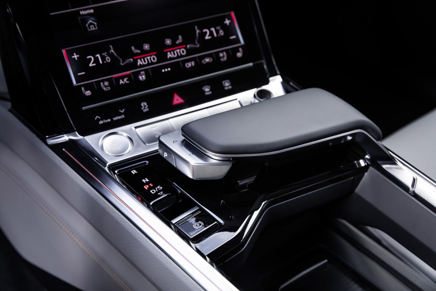Audi e-tron SUV gear shift