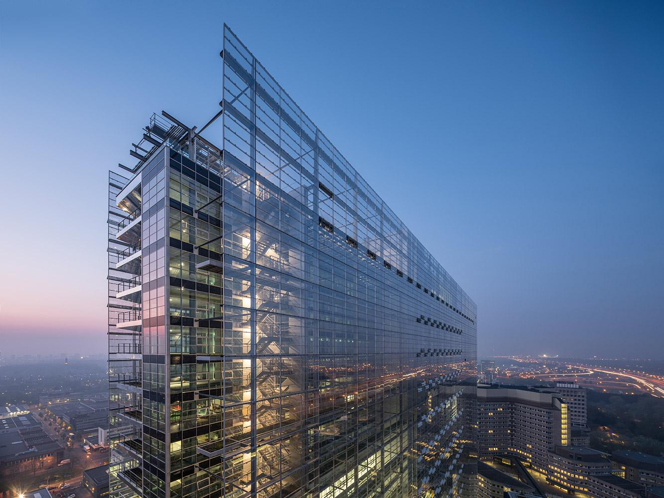 The European Patent Office in Rijswijk designed by Ateliers Jean Nouvel and Dam & Partners Architecten