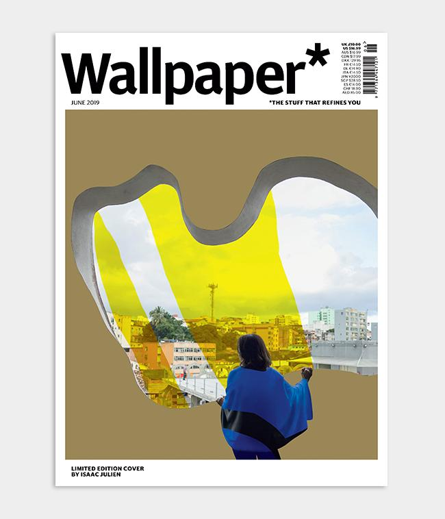 artist Isaac Julien Wallpaper* magazine cover design using gold foil inspired by architect Lina Bo Bardi, the June 2019 issue