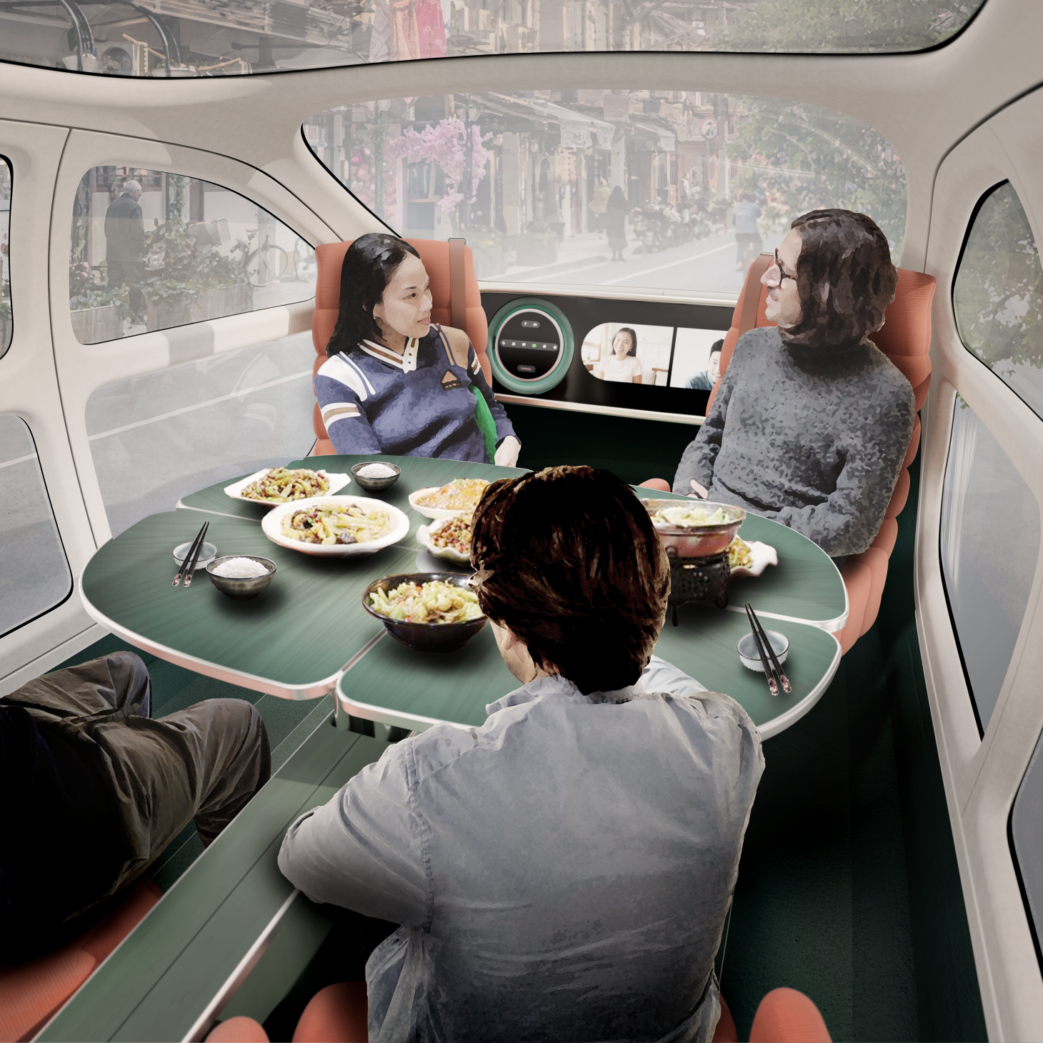 The interior of the Airo concept from IM Motors, designed by Heatherwick Studio