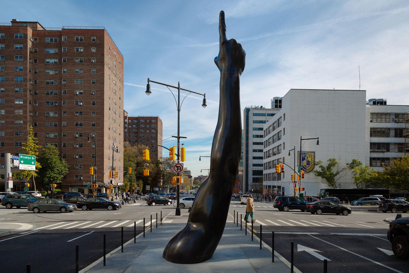 Hank Willis Thomas, Unity, 2019, an original work commissioned by the City of New York Department of Cultural Affairs Percent for Art Program