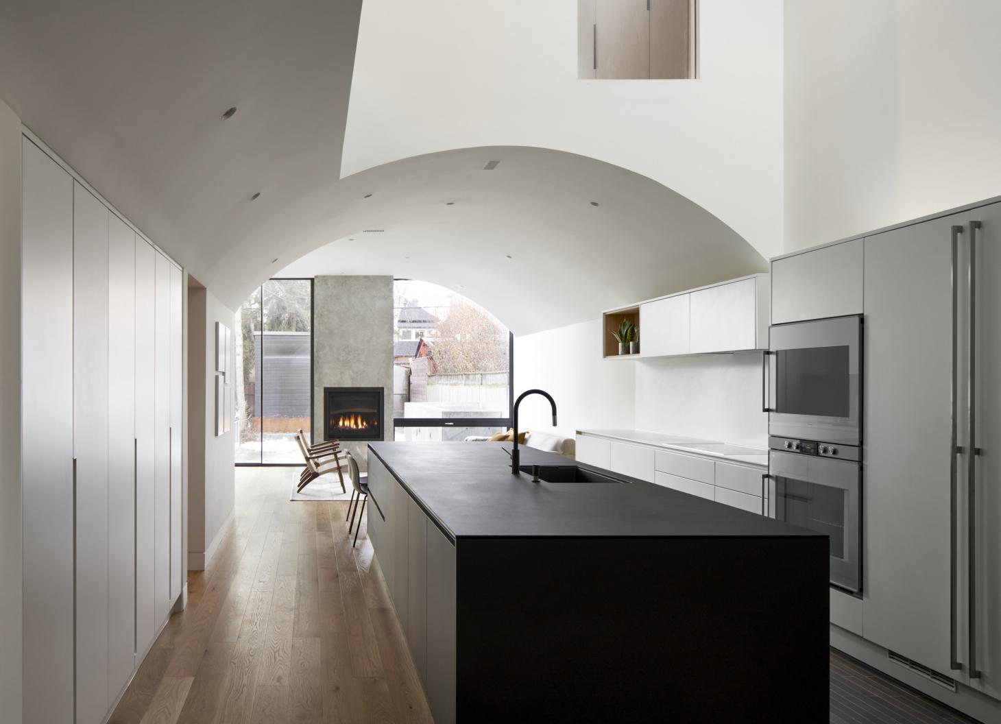 The vaulted kitchen at the High Park Residence by Batay-Csorba Architects