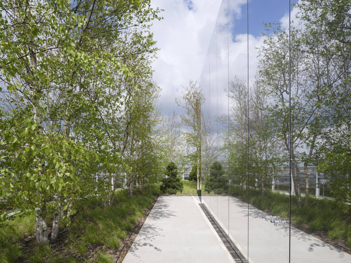 rooftop gardens at the museum Depot in Rotterdam by MVRDV