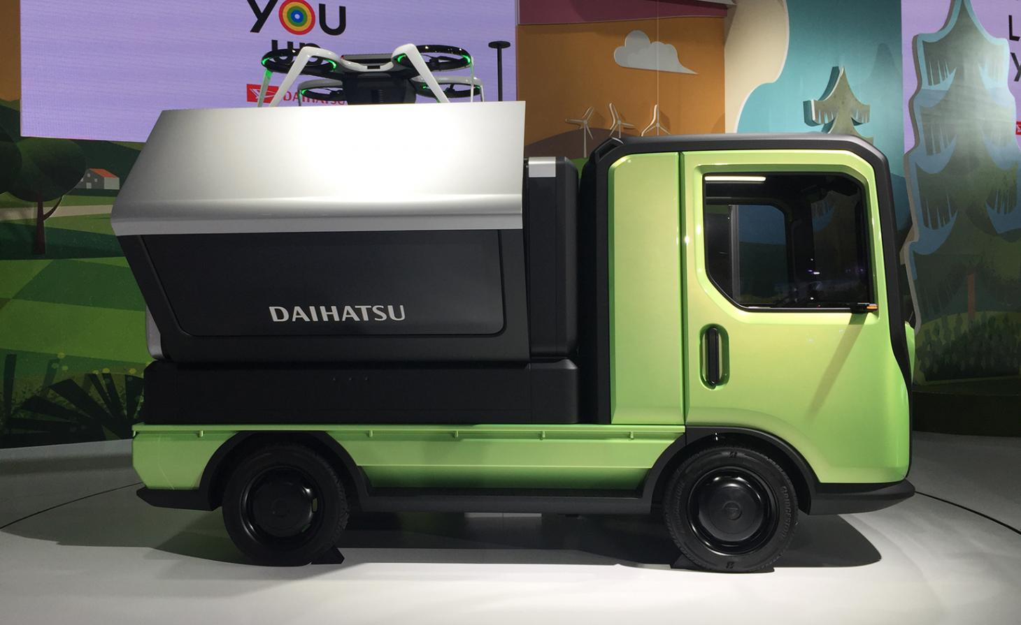 Daihatsu TsumuTsumu sits in a showroom