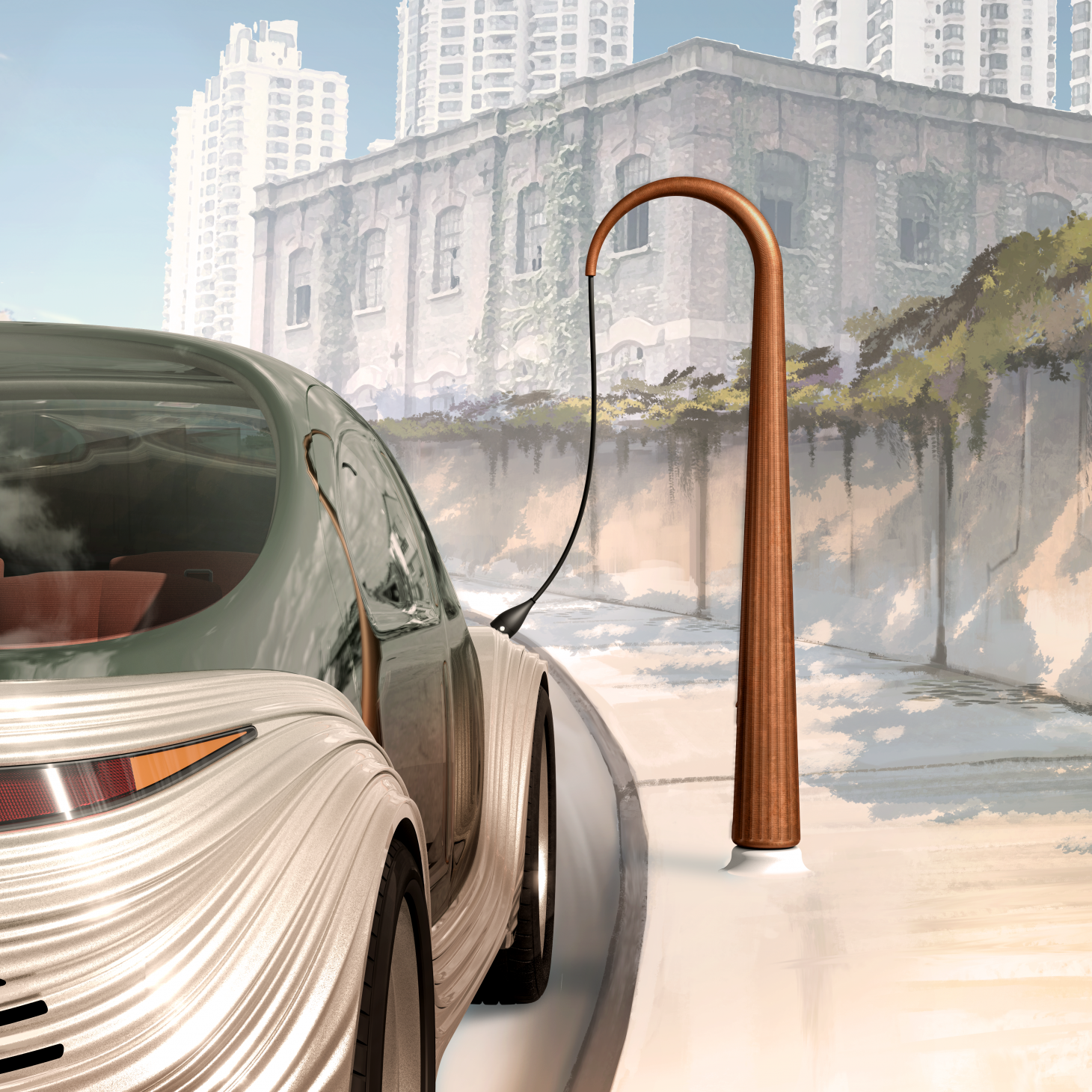 Airo concept and charge station from IM Motors, designed by Heatherwick Studio