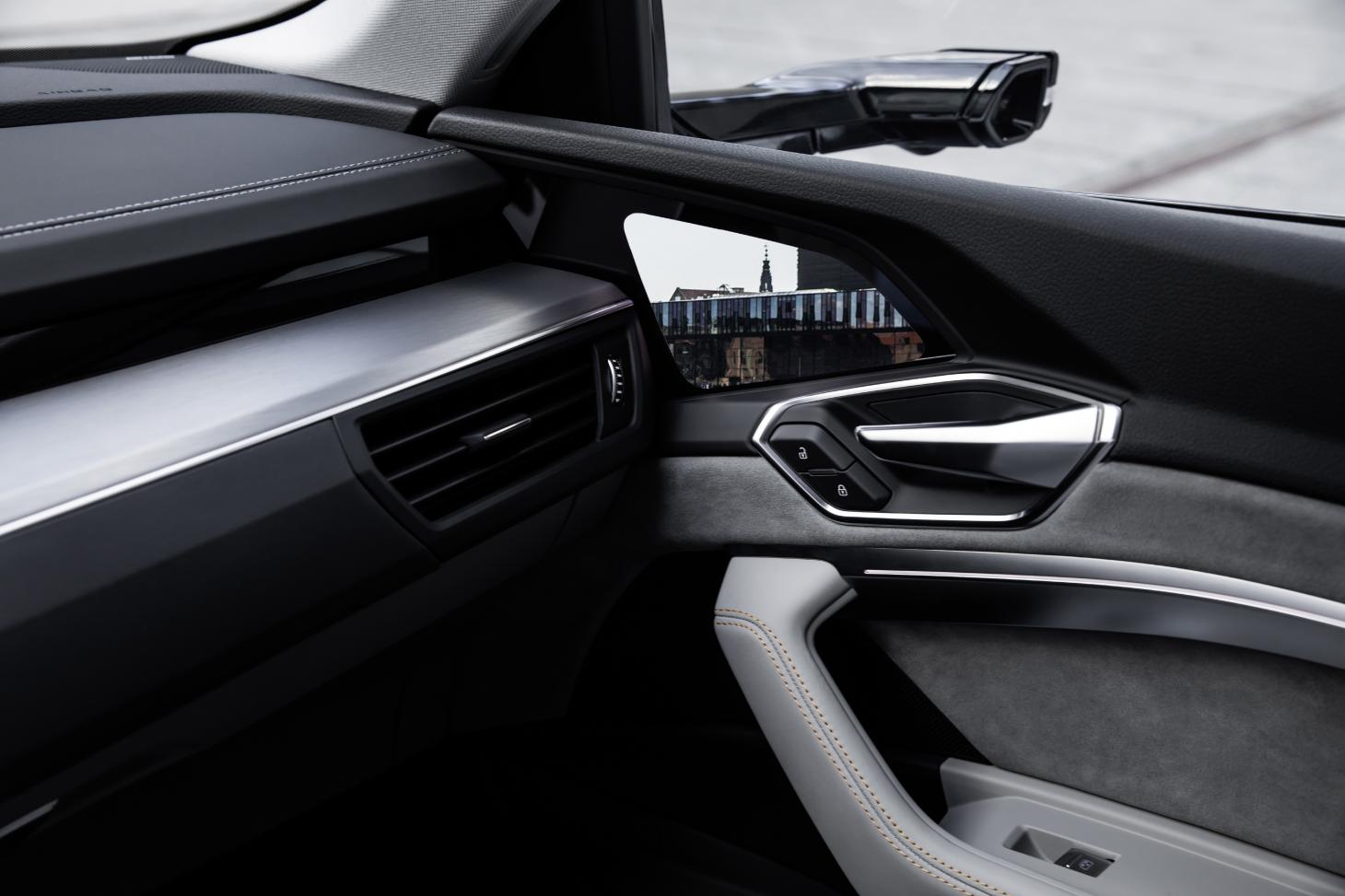 Audi e-tron SUV virtual mirror technology