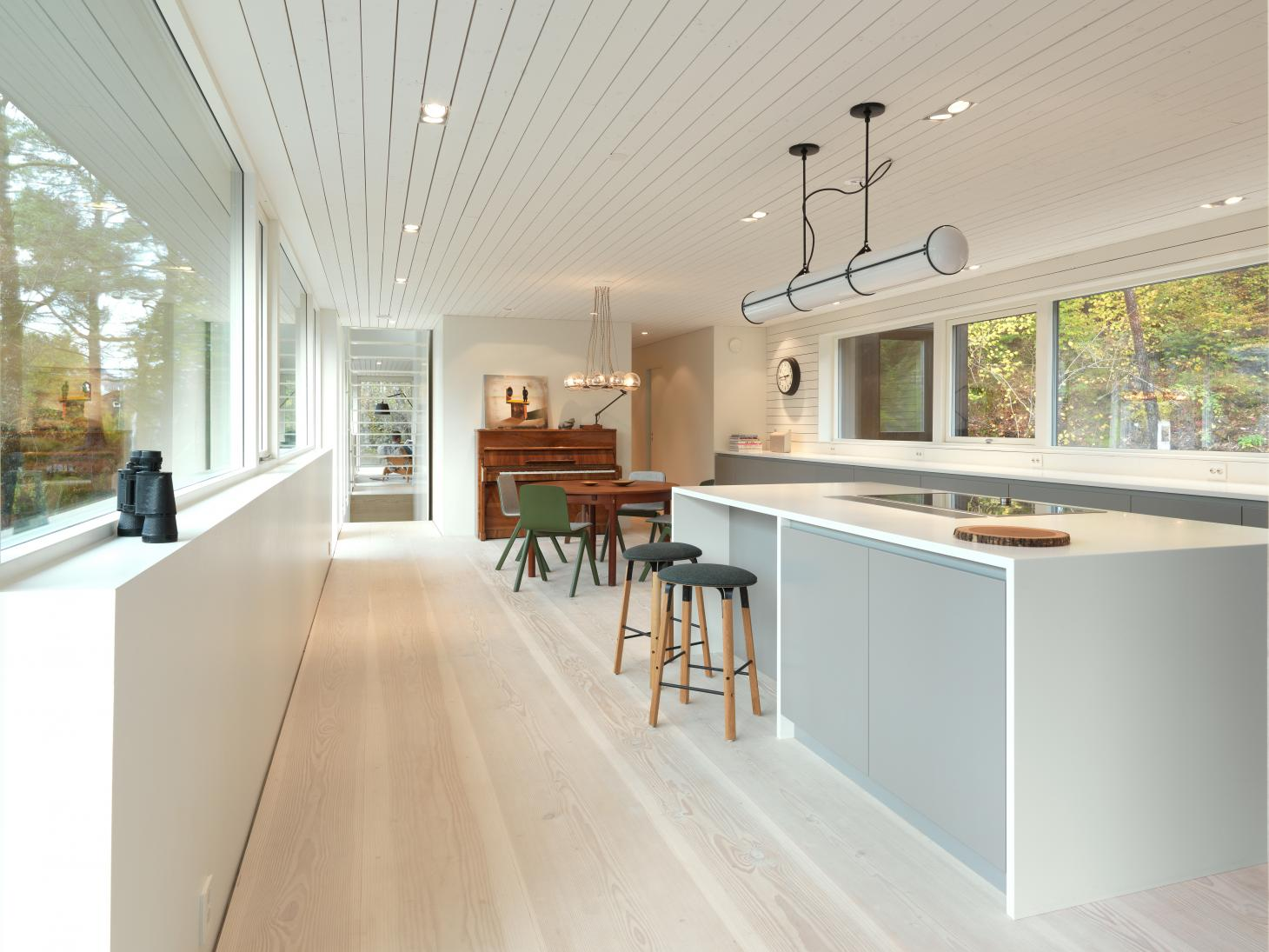 Todd Saunders' kitchen at his self-designed home in Bergen