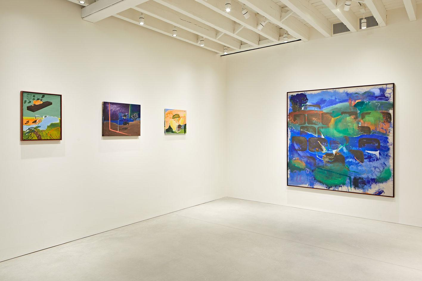 Installation view of artist Walter Price's work in'Citizens of Memory' atThe Perimeter, London.