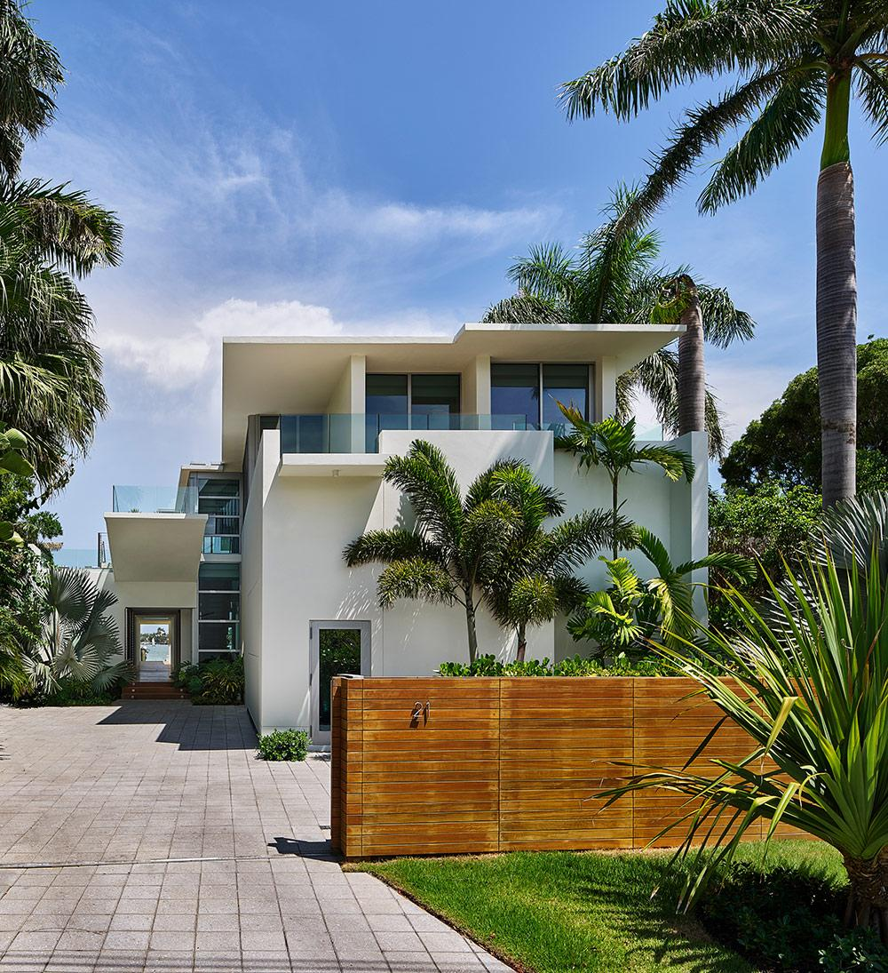 Exterior of the Miami house