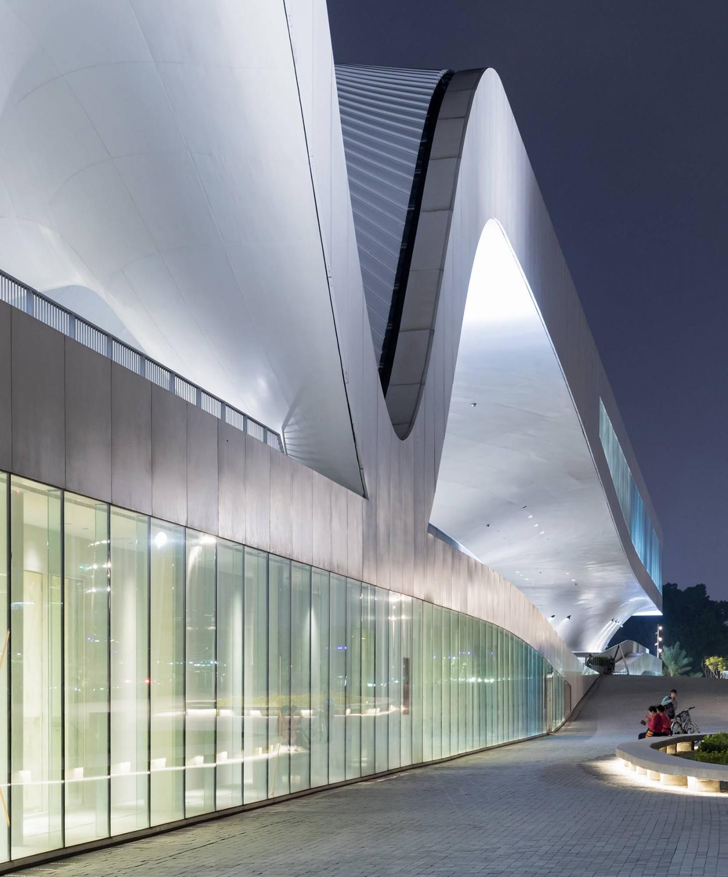 exterior of the national kaohsiung performing arts centre in taiwan