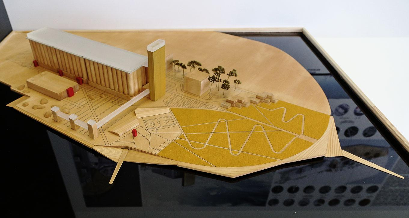Industrial site design model by young Russian architect