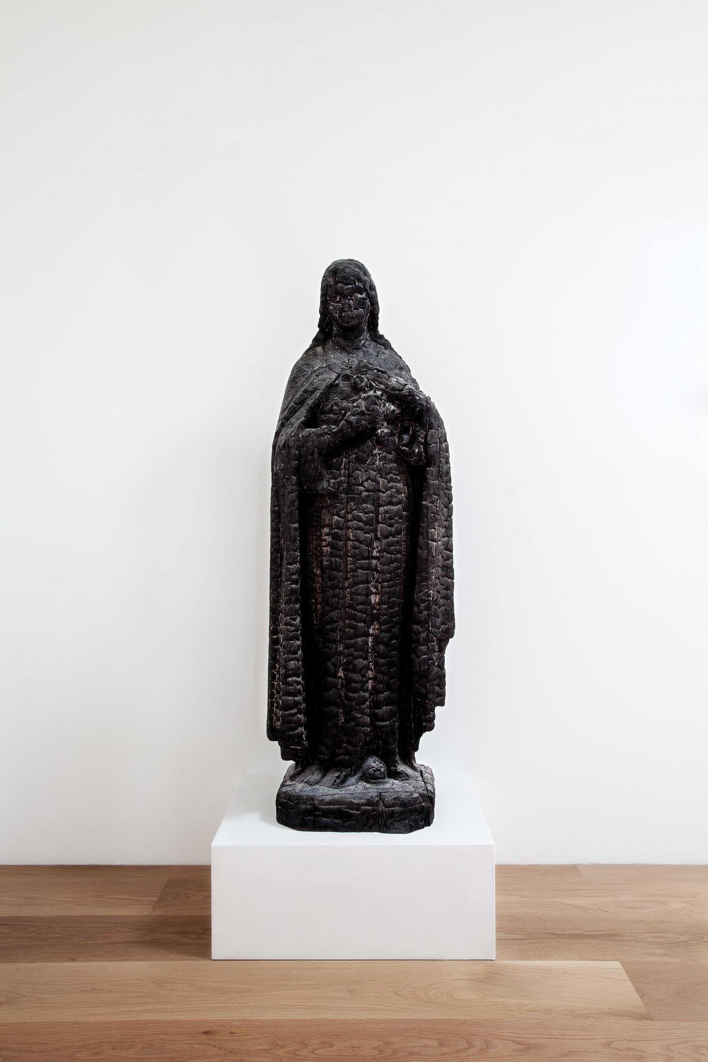 Wooden statue of St Theresa of the Roses