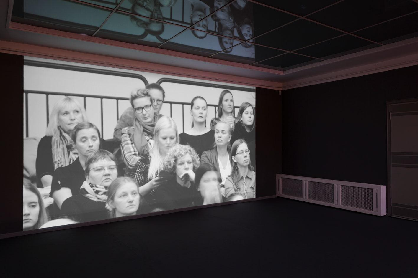 Exhibition view of Flo Kasearu, 'Cut Out of Life', at Tallinn Art Hall.