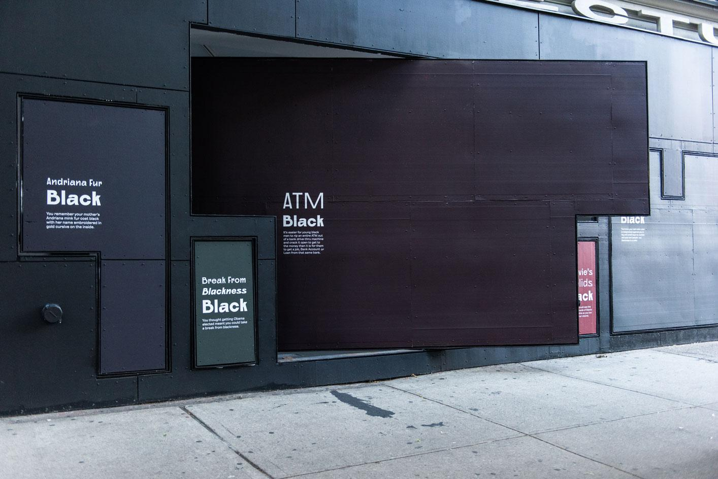 What Black Is This You Say? A Public Artwork by Amanda Williams at Storefront for Art and Architecture. 2020-2021. Photography:Michael Oliver