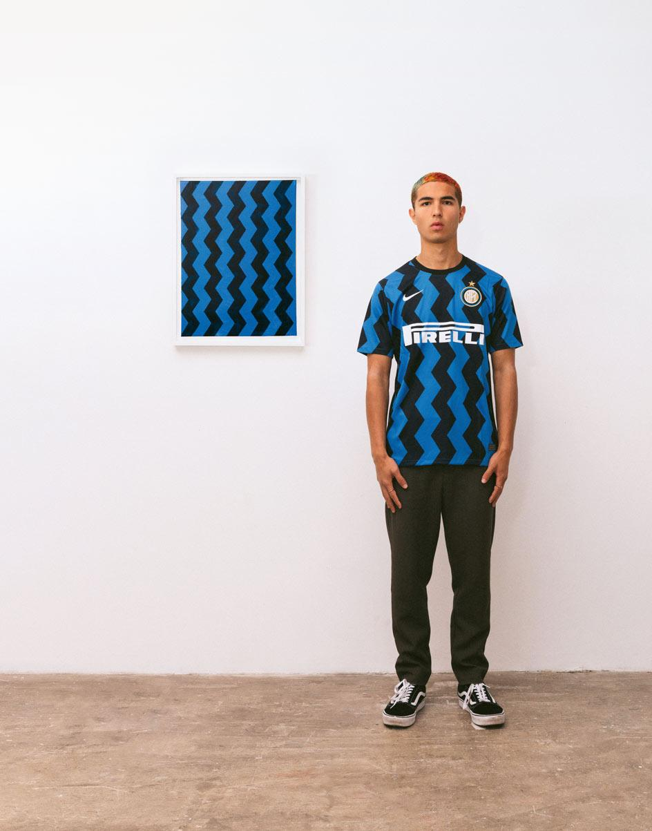 Football shirts and abstract art Inter Milan, as featured inPaintings League, byMax Siedentopf,published by Hatje Cantz