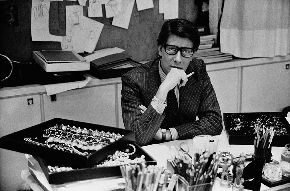 A portrait of Yves Saint Laurent